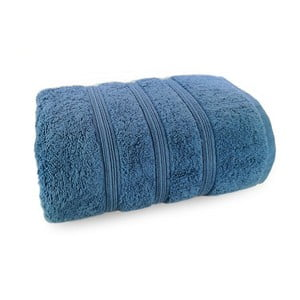 Tmavomodrý uterák zo 100% bavlny Marie Lou Majo, 140 x 70 cm