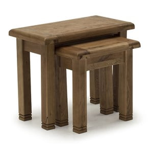 Sada 3 stoliček z dubového dreva VIDA Living Danube