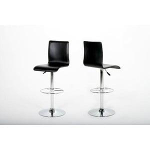 Barová stolička Aze, čierna