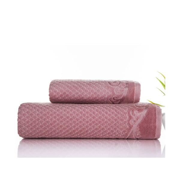 Sada uteráka a osušky Acustic Rose, 50x90 cm a 70x140 cm