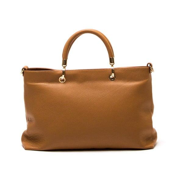 Kožená kabelka Luisa Vannini 1131 Cognac