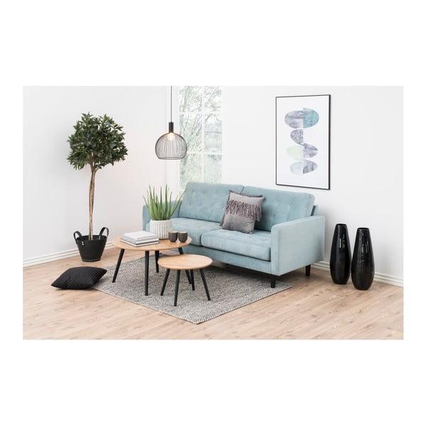 Odkladací stolík s dyhou z jaseňa Actona Stafford, ⌀ 50 cm
