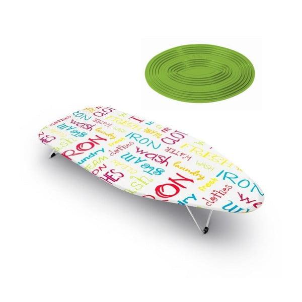 Set stolovej žehliacej dosky a termopodložky Mini Words