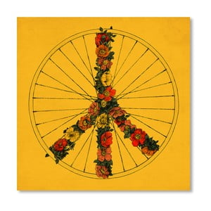 Plagát Peace And Bike od Florenta Bodart, 30x30 cm