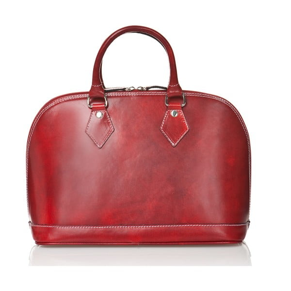 Červená dámska kabelka z teľacej kože Medici of Florence Rosalia