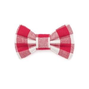 Červeno-biely károvaný charitatívny psí motýlik Funky Dog Bow Ties, veľ. S