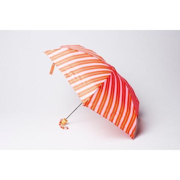 Skladací dáždnik Alvarez Stripe Orange Pink
