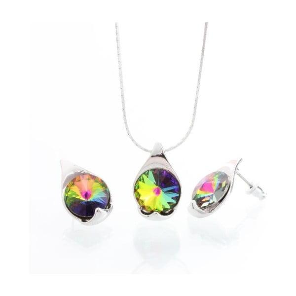 Set náhrdelníku a náušníc Laura Bruni Vitrail Medium
