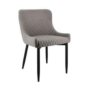 Sivá jedálenská stolička Moycor Melissa Checkered