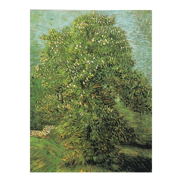 Obraz Vincenta van Gogha - Blossoming Chestnut Tree, 40x30 cm