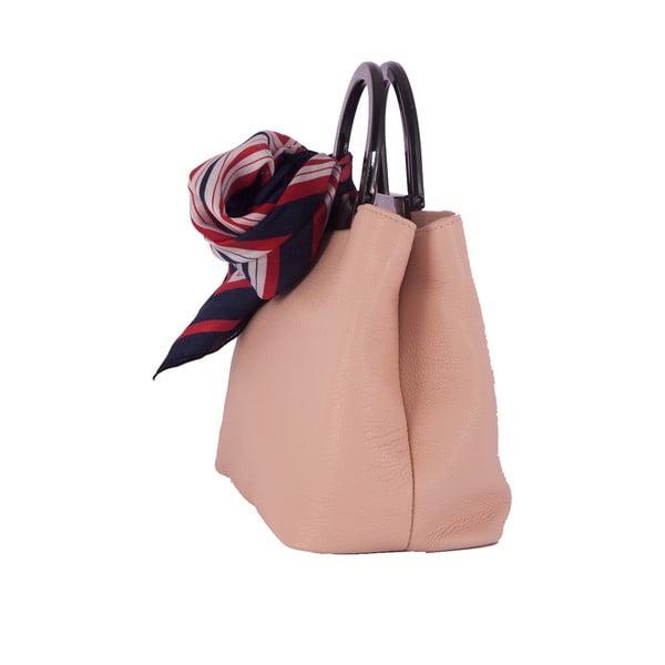 Ružová kabelka z pravej kože Andrea Cardone Angelo