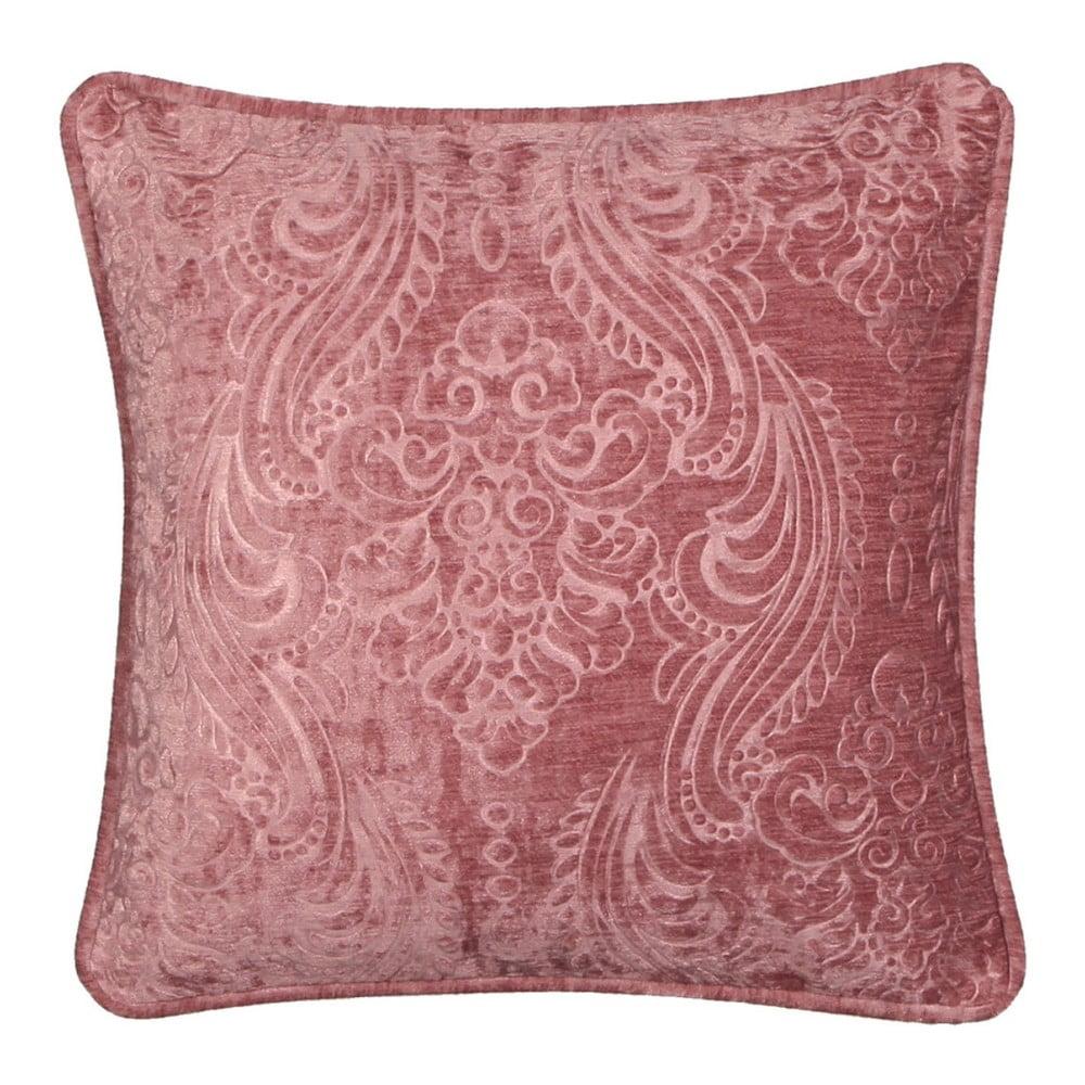 Ružový vankúš Kate Louise E×clusive Ranejo, 45 × 45 cm