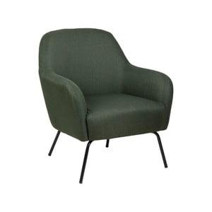 Zelená polstrovaná stolička Actona Melanie