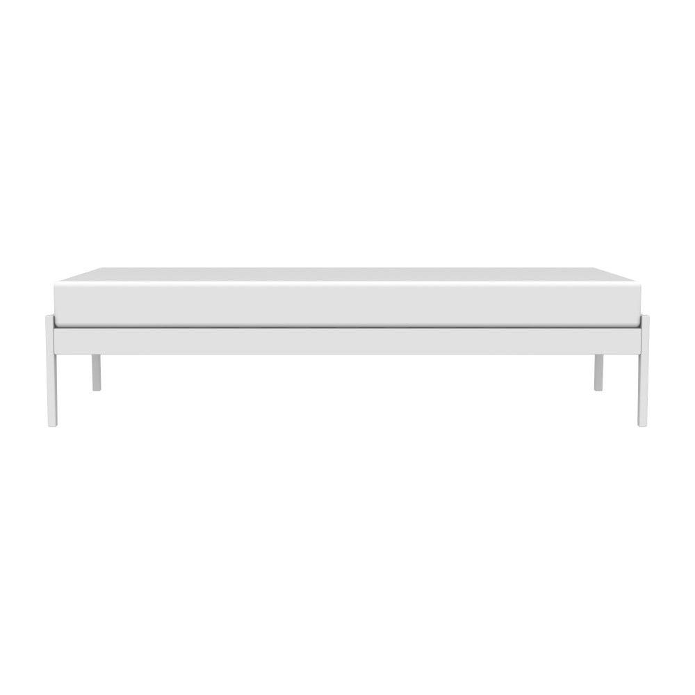 Biely rám postele z masívneho brezového dreva Kiteen Avanti, 95 × 206 cm