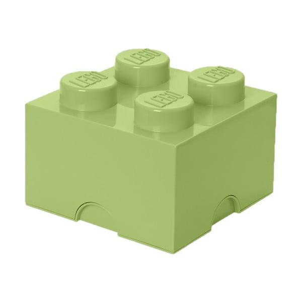Svetlozelený úložný box štvorec LEGO®