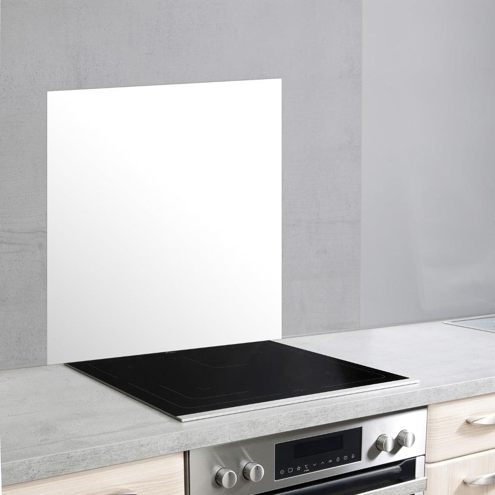 Biely sklenený kryt na stenu pri sporáku Wenko, 70 × 60 cm
