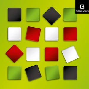Sada 12 farebných Eurographics magnetek