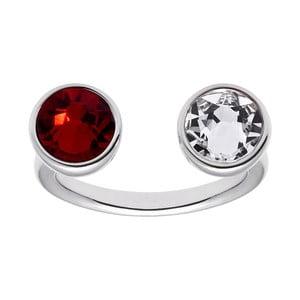 Prsteň v tvare U s červeným krištáľom Swarovski ® Gemseller