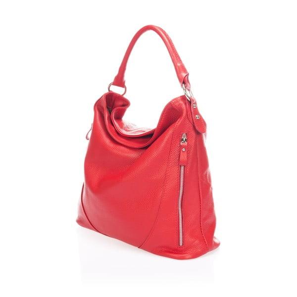 Kožená kabelka Markese 5138 Red