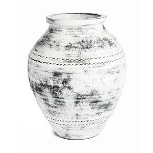 Biela keramická váza Simla Antik, ⌀ 40 cm