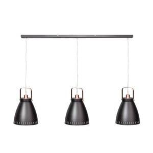 Čierno-medené trojité stropné svietidlo ETH Acate