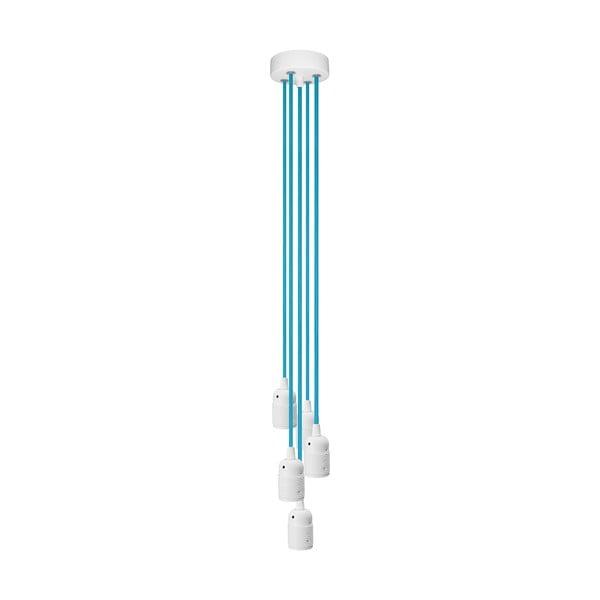 Päť závesných káblov Uno, modrá/biela
