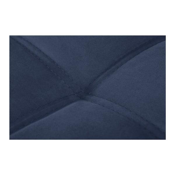 Modrá pohovka Modernist Crinoline, ľavý roh