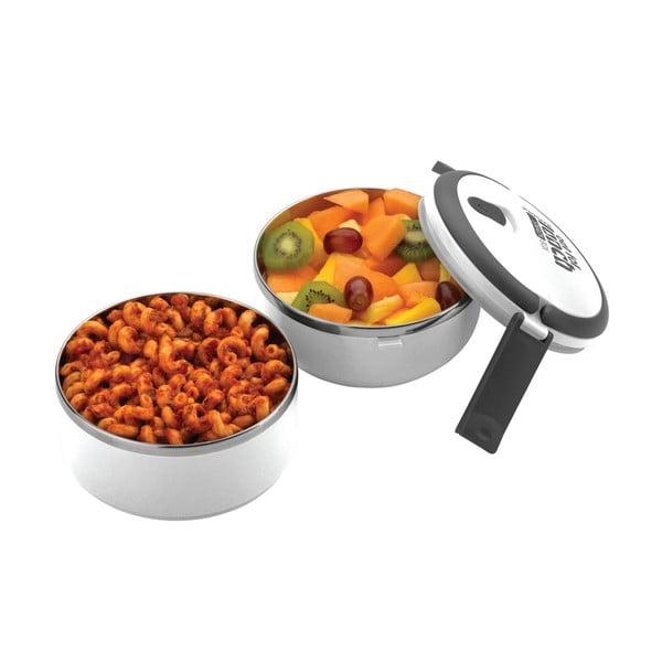 Biela okrúhla miska na obed Pioneer Lunchbox