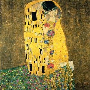 Reprodukcia obrazu Gustav Klimt - The Kiss, 60×60cm