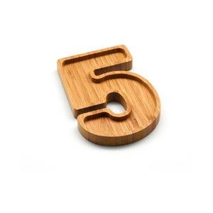 Bambusový servírovací tanierik Bambum Numero Five