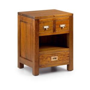Nočný stolík z mahagónového dreva s 3 zásuvkami Moycor Flamingo Less