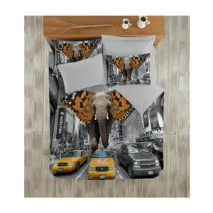 Obliečky s plachtou Elephant Satin, 200x220cm