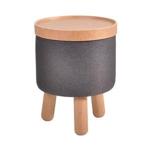 Tmavosivá stolička Garageeight Molde s odnímateľným vrchom, veľkosť S
