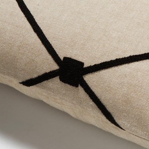 Vankúš La Forma Melrose, 30x50 cm, čierny