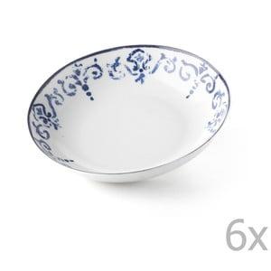 Sada 6 polievkových tanierov Antico Blue, 20.5 cm