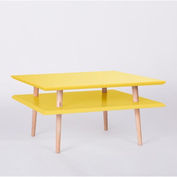 Žltý konferenčný stolík Ragaba Square, 68x68cm