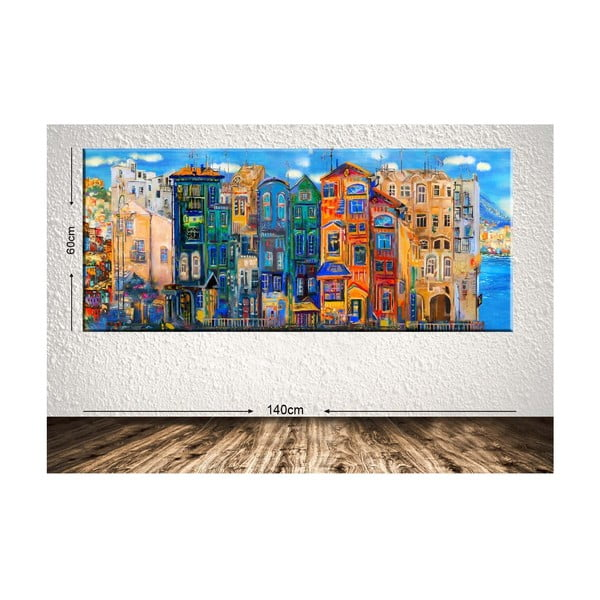 Obraz Tablo Center Colorful Houses, 140 × 60 cm