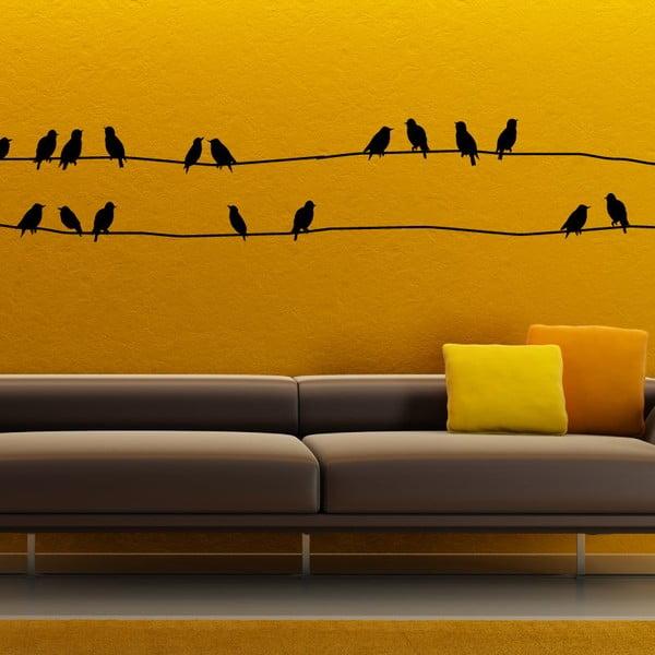 Sada samolepiek Ambiance Starlings On Cable