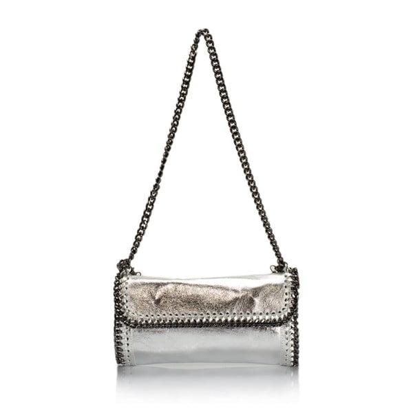 Kožená kabelka Markese 132 Silver