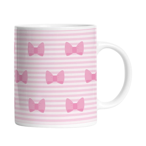 Keramický hrnček Pink Bows, 330 ml