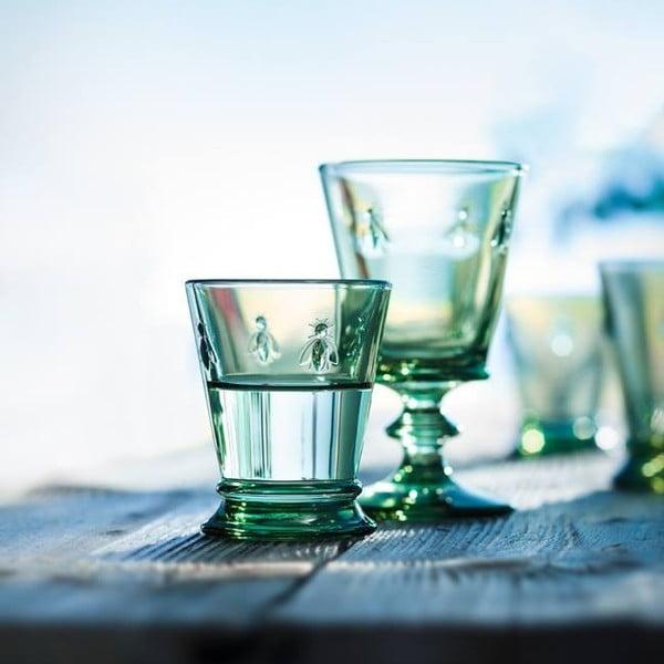 Sada 6 zelených pohárov na víno Abeile, 240 ml