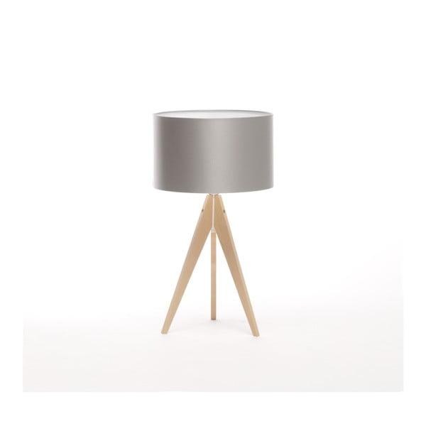 Strieborná stolová lampa Artist, breza, Ø 33 cm