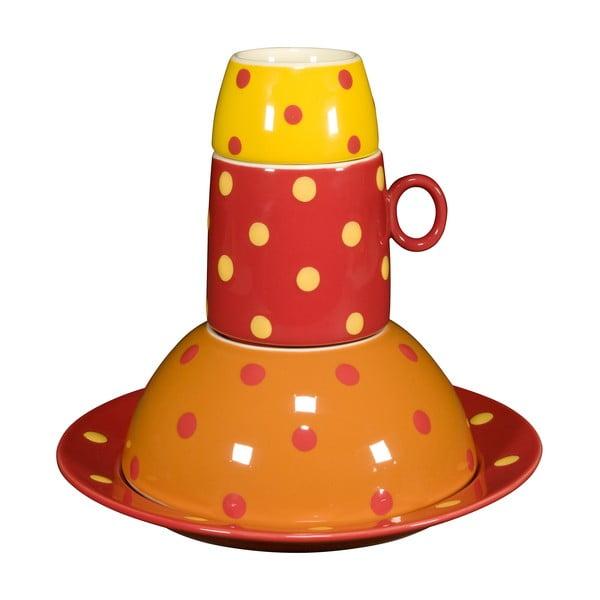 Detská porcelánové sada Ramponi Baby Orange