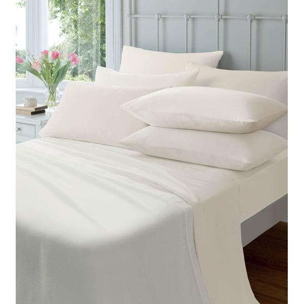 Neelastická plachta Plain Flette Cream, 180x254 cm