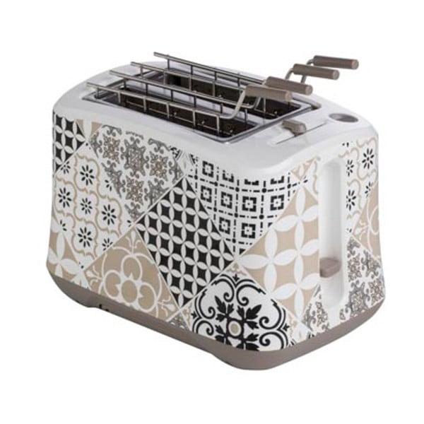 Sivý toaster z antikoro ocele Brandani Alhambra, 25×16 cm