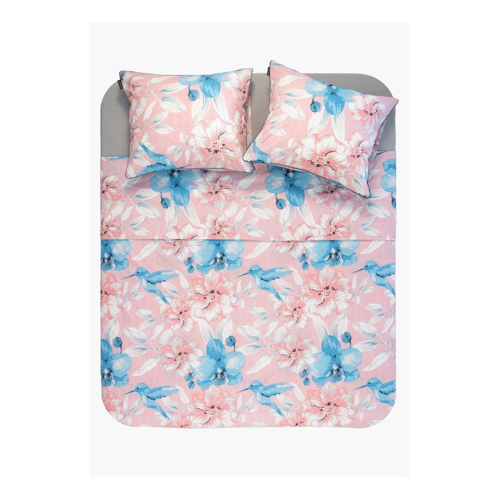 Kvetovaná obliečka z bavlny Ambianzz, 220 x 140 cm