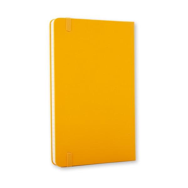 Zápisník Moleskine Hard 21x13 cm, žltý + linkované stránky