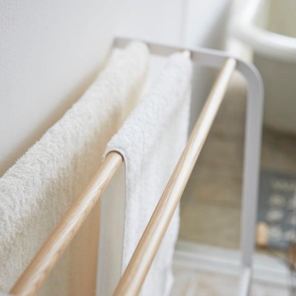 Biely vešiak na uteráky Yamazaki Tosca
