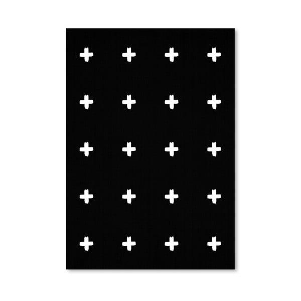 Plagát Crosses On Black