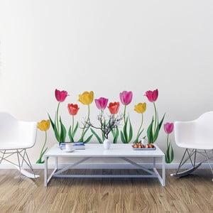 Sada samolepiek na stenu Ambiance Spring Tulips